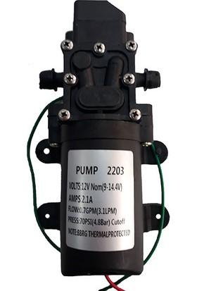 Orac Akülü Su Aktarma ve Ilaçlama Motoru Pompası 12 Volt-Orac