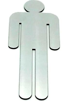 Se-Dizayn Wc Tuvalet Işareti Bay, Kapı Yönlendirme Levhası 15 cm x 5,5 cm