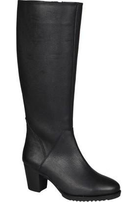 Castle Black 68900-1 Deri Siyah Kadın Çizme