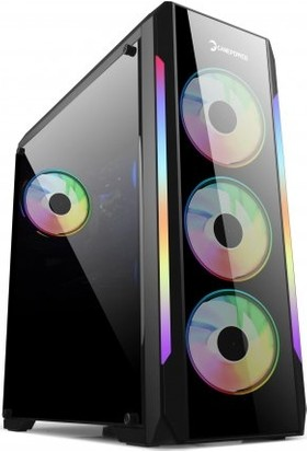 GamePower Wraith 650W +80 Bronz Dahili PSU' lu 4x120mm ARGB Fan ARGB Led Bar Gaming ATX RGB Bilgisayar Kasa