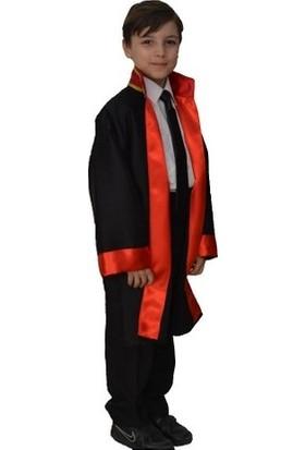 Rengarenk Kostüm Avukat Cübbesi - Çocuk Meslek Kostümü
