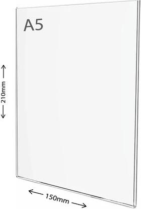 Display Malzeme Dm A5 U Tipi Dikey Masa Üstü Şefaf Pleksi Föylük