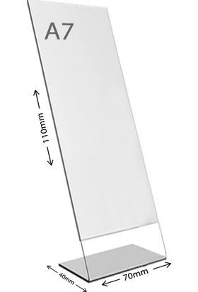 Display Malzeme Dm A7 L Tipi Dikey Masa Üstü Şefaf Pleksi Föylük