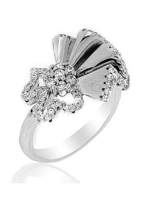 Glint Point Çiçek Model Sıra Dışı Gümüş Yüzük