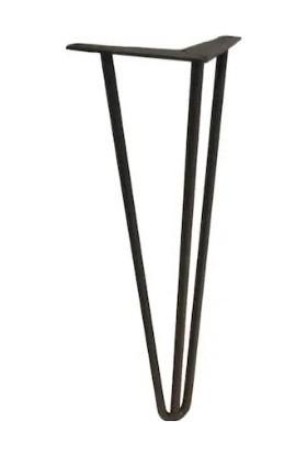 Abronya Firkete Ayak Dresuar Çalışma Orta Sehpa Kütük Metal Masa Ayağı 50 cm 1 Adet