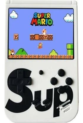 """Sup Taşınabilir Video Oyun Konsolu 3"""" Beyaz 400 Oyunlu Mini Atari Gameboy"""