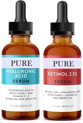 Pure Hyaluronic Acid Hyaluronic Acid + Retinol Serum Set 30ML