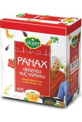 2 Adet Akzer Panax Ginsengli Alıç Yapraklı Karışık Bitkisel Çay 120 Süzen Poşet