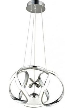 Burenze Luxury Modern Sarkıt LED Avize Krom BURENZE604
