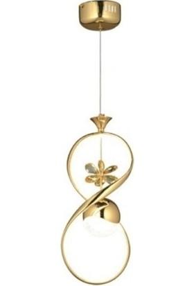 Burenze Modern Sarkıt LED Avize Gold Sarı BURENZE641
