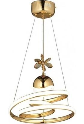 Burenze Luxury Modern Sarkıt LED Avize Gold Sarı BURENZE605
