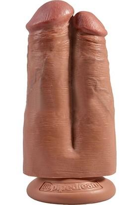 Pipedream King Cock Çift Penisli Içi Dolu Belden Bağlamalı 18 cm ve Playboy Masaj Yağı
