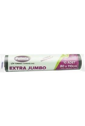 Polmix Çöp Poşeti Jumbo Extra Boy 300 Gram 80 x 110 38 Mikron Siyah 1 Paket