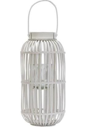 Tmall Home Design Çok Amaçlı Beyaz Rattan Sepet 10X46 cm - 808020