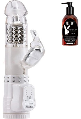 Seven Creations Limited Edition Klitoris Uyarıcılı Rabbit Vibratör ve Playboy Masaj Yağı