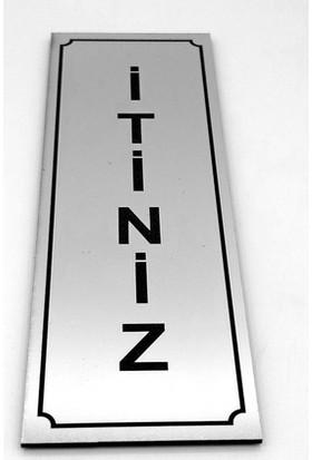 Se-Dizayn Itiniz Kapı Yönlendirme Levhası 5 cm x 15 cm Gümüş Tabela