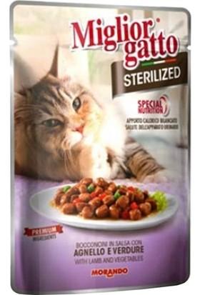 Miglior Gatto Kuzu Etli Sterilized Kısır Kedi Yaş Maması 85 gr x 5 Adet
