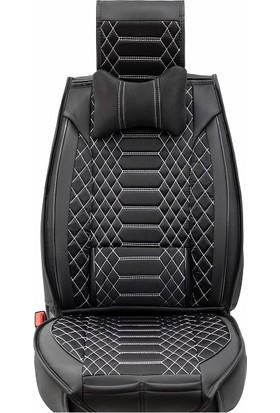 Stiloto Araç Koltuk Kılıfı Lux Royal Minder Siyah Beyaz