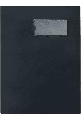 Önder 7121-3 Cilt Bezi Kapaklı 16'lı Imza Dosyası Siyah