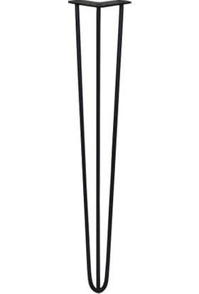 Abronya Firkete Ayak Dresuar Komodin Zigon Orta Sehpakütük Metal Masa Ayağı 50 cm 1 Adet