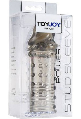 Toyjoy Power Stud Sleeve Dolgulu Penis Kılıfı Smoke ve Playboy Masaj Yağı