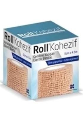 Roll Kohezif Koban Kendinden Yapışkanlı Bandaj 5 cm x 4.5 M