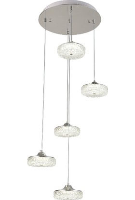 Luna Lighting Modern Luxury Sarkıt 5'li LED Avize