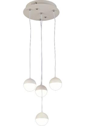 Luna Lighting Modern Luxury Sarkıt Üçgen 3lü LED Avize