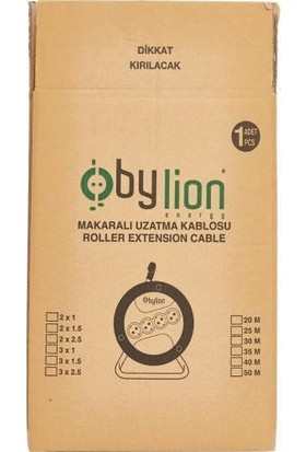 Bylion Seyyar Makaralı Uzatma Kablosu 20 Metre 3 x 2,5