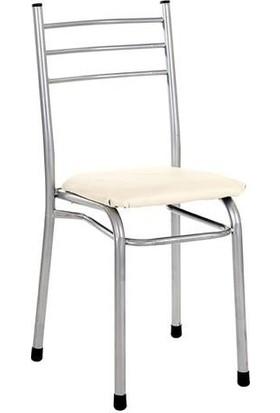 Sivasgözde Asos Metal Krem Kahve Çayocağı Kıraathane Sandalyesi