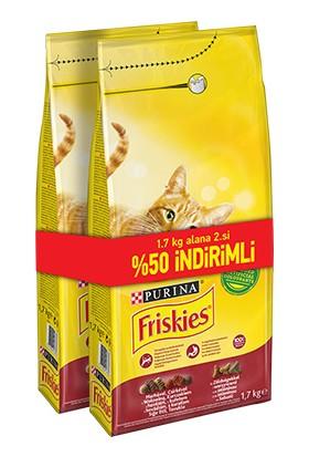 Friskies Etli Tavuklu Ve Sebzeli Yetişkin Kedi Maması 2 x 1 7 Kg