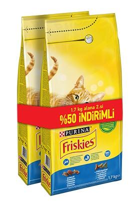 Friskies Somonlu Sebzeli Yetişkin Kedi Maması 2 x 1 7 Kg