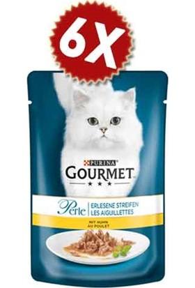Gourmet Perle Izgara Tavuklu Kedi Konservesi 85 gr 6 ' lı Avantaj Paketi