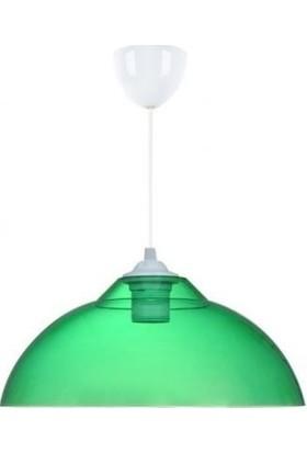 Örgün Aydınlatma Tekli Kristal Mika Şeffaf Yeşil Modern Sarkıt Avize Modelleri