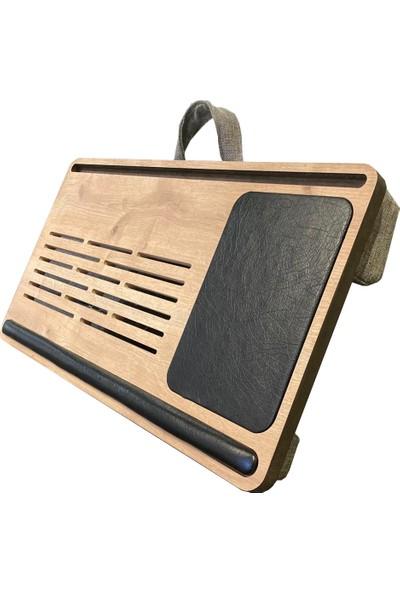 Axolotl Telefon ve Tablet Bölmeli Minderli Laptop Sehpası, Notebook Masası