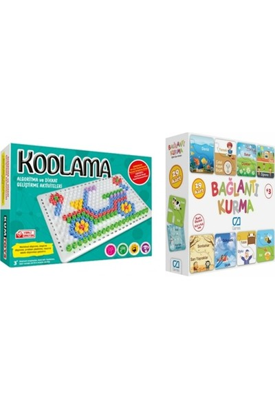 Kumtoys Kodlama + Ca Games Bağlantı Kurma(2'li Set)