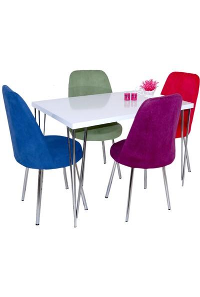Hedef Masa Sandalye Takımı 4 Şato Sandalye