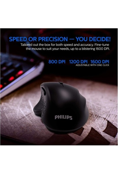 Philips SPK7624 Kablosuz Mouse Gaming Mouse Oyuncu Mouse 6tuş