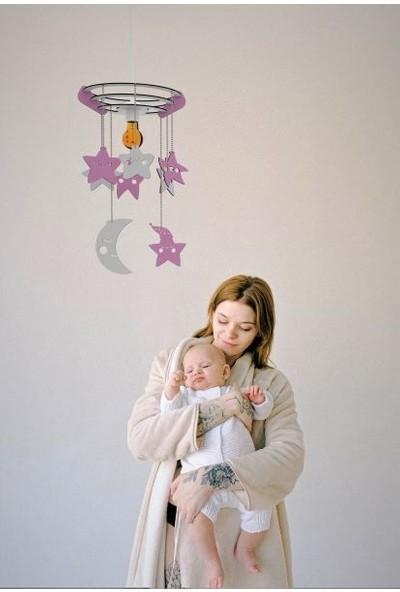 Woodact Agapantus Çocuk Odası Bebek Odası Avize Pembe