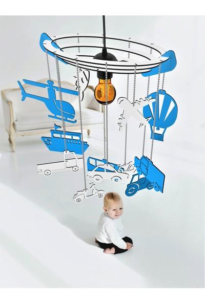 Woodact Tilia Ahşap Çocuk Odası Avize