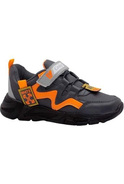 Carby Erkek Çocuk Füme Oranj Spor Ayakkabı 2004-3