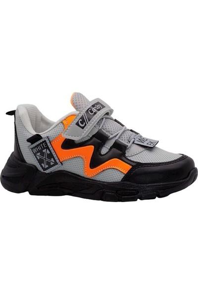 Carby Erkek Çocuk Gri Oranj Spor Ayakkabı 2004-2