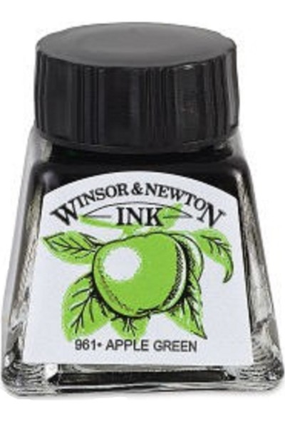 Winsor & Newton : Çizim Mürekkebi : 14 ml : Apple Green 011