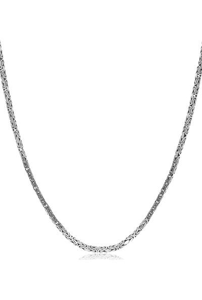 Takılingo Erkek Kral Gümüş Zincir Kolye 2 mm 60 cm