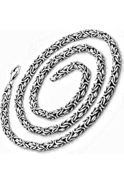 Takılingo Gümüş Kral Erkek Kolye El İşi Zincir 55 cm 16 gr
