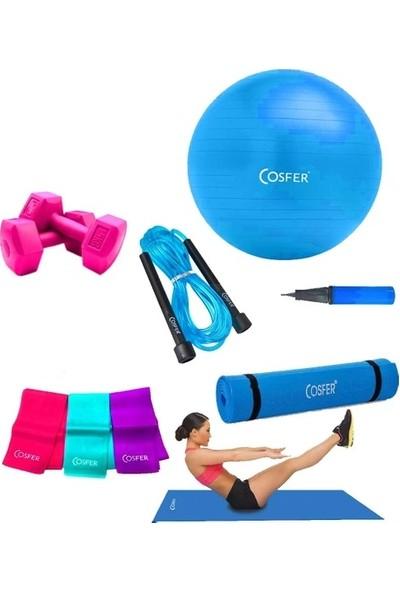 Cosfer 6 Parça Pilates ve Yoga Seti