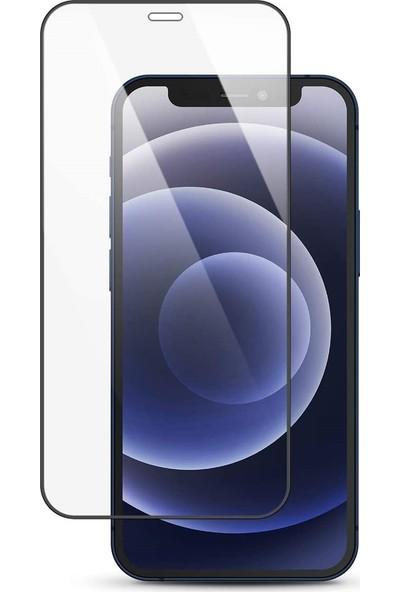 """Melikzade Apple iPhone 12 6.1"""" Tam Kaplayan 5d Ekran Koruyucu Cam"""