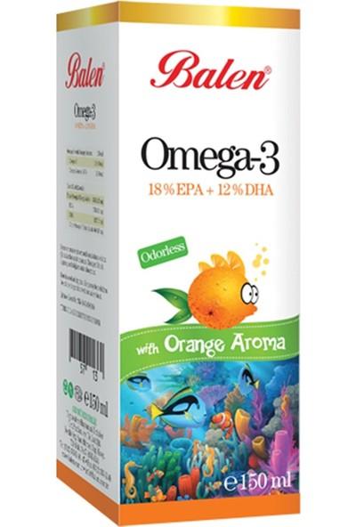 Balen Omega-3 Portakal Aromalı Şurup (%18 Epa-%12 Epa) 150 ml