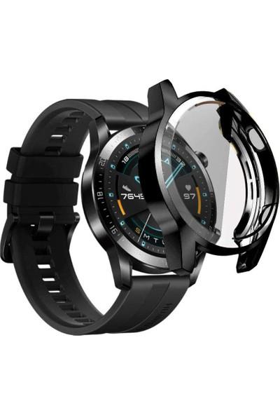 UKS Case Huawei Watch Gt2 46MM Önü Kapalı Silikon Kılıf