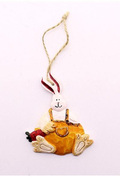 Deco Elit Yılbaşı Çam Ağacı Süsü Sarı Tavşan Dekoru